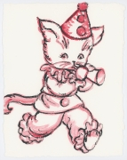 David Bromley - Party Cat - Framed in white $650 - Unframed $550