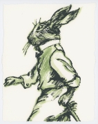 David Bromley - Rabbit Clothes - Framed in white $650 - Unframed $550
