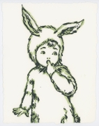 David Bromley - Rabbit Suit - Framed in white $650 - Unframed $550