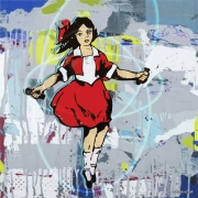 skipping-girl-graffiti